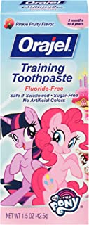 Sponsored Ad - Orajel My Little Pony Fluoride-Free Training Toothpaste, Pinky Fruity Flavor, One 1.5oz Tube: Orajel #1 Ped...