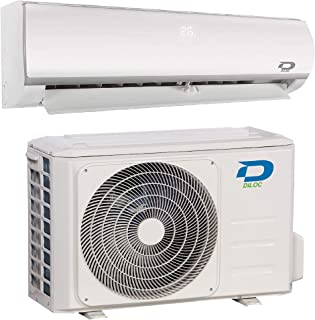 Diloc Frozen Aire Acondicionado 24000 Btu R32, Climatizador Inverter 7,2 Kw, D.FROZEN24+D.FROZEN124