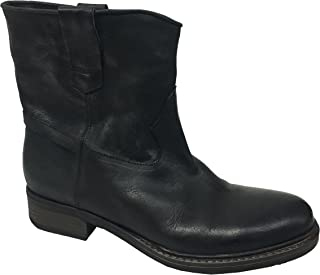 WHY NOT Stivale Donna Basso Nero MOD Chantal 100% Pelle Suola Gomma Made in Italy