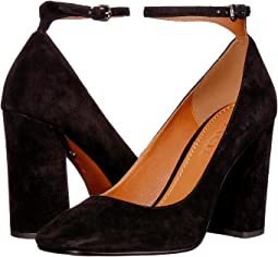 Suede 95mm Ankle Strap Pump