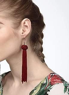 Monkey's Fist Knot Tassel Dangle Earrings Fashion Jewelry