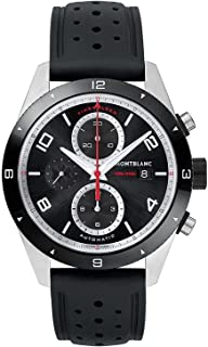 Montblanc - TimeWalker Chronograph Automatic - Reloj (Reloj de pulsera, Masculino, Cerámico, Acero inoxidable, Negro, Acero inoxidable, Caucho, Negro)