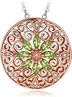 JewelryPalace 925 Sterling Silver Sun Vintage Filigree Pendant Necklace Box Chain 18 Inches