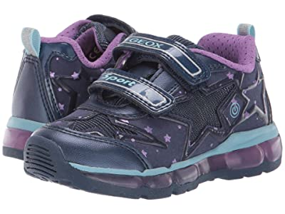 Geox Kids Jr Android 24 (Toddler) (Blue/Purple) Girls Shoes