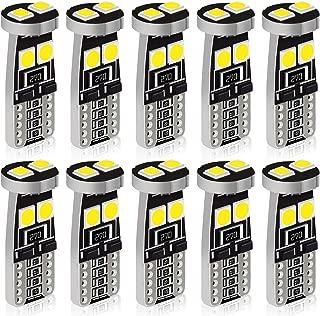 housesweet 5 Colors Instrument Panel LED Light Bulbs Cluster Dashboard Indicator Light Bulb T5+T10 70 Pack