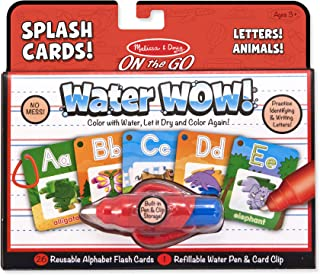 Melissa & Doug On the Go Water Wow! Reusable Water-Reveal Activity Cards - Alphabet and Animals