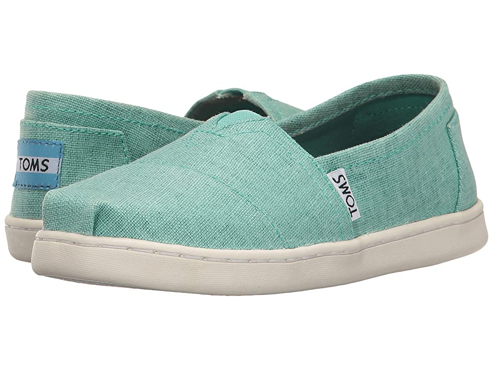 TOMS Kids Seasonal Classics (Little Kid/Big Kid) (Turquoise Coated Linen) Girls Shoes