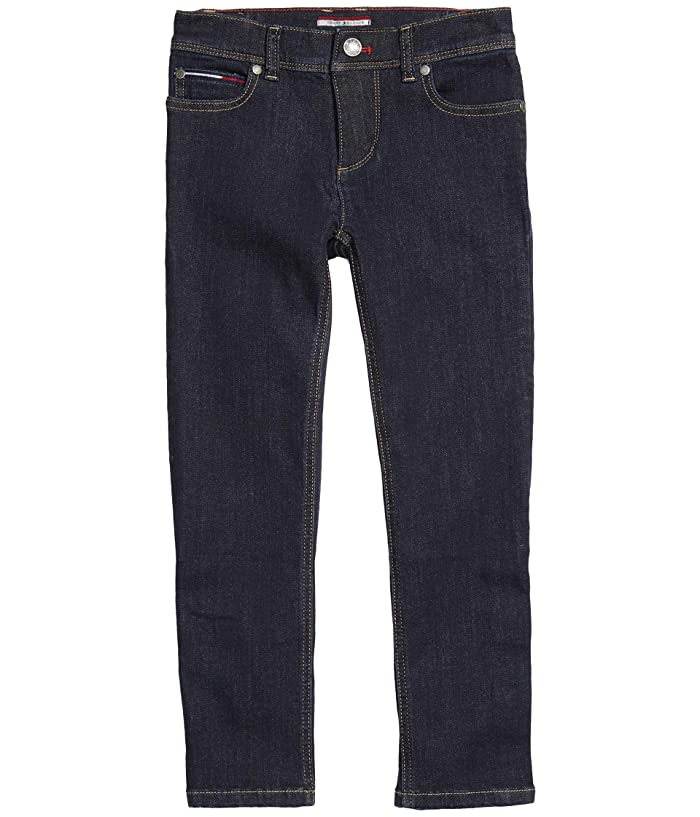 Tommy Hilfiger Adaptive  Jeans Slim Straight Fit with Adjustable Waist and Hems (Toddler/Little Kids/Big Kids) (Canyon Lake) Mens Jeans