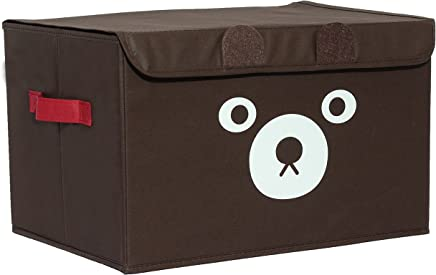 Katabird Storage Bin for Toy Storage  Collapsible Chest Box Toys Organizer with Lid for Kids Playroom  Baby Clothing  Children Books  Stuffed Animal  Gift Baskets  Brown