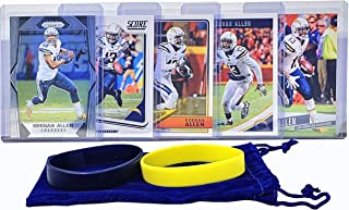 Keenan Allen Football Cards (5) Assorted Bundle - Los Angeles Chargers Trading Card Gift Set