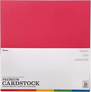 Core'dinations Card Stock Value Pack Overtherainbow Textured 5 Color (20 Pack), Multicolor