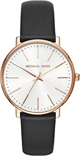 Michael Kors Women's Quartz Wrist Watch analog Display and Leather Strap, MK2834
