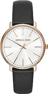 Michael Kors Women's Quartz Wrist Watch analog Display and Leather Strap, MK2834
