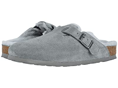 Birkenstock Boston Shearling (Dove Gray/Dove Gray Suede/Shearling) Clog Shoes