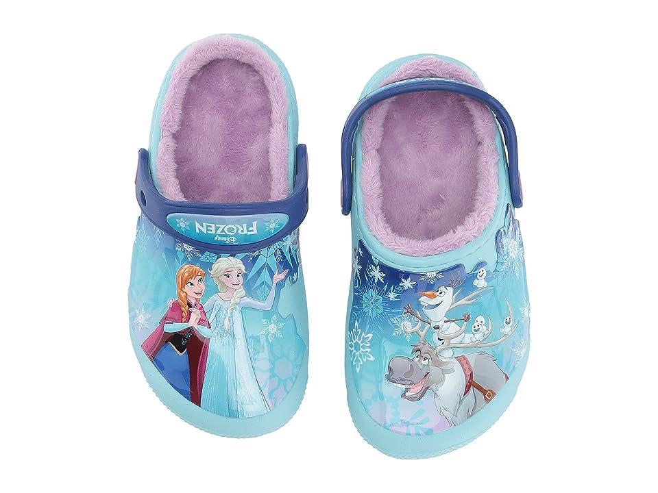 Crocs Kids FunLab Lined Frozen Clog (Toddler/Little Kid) (Ice Blue) Girls Shoes