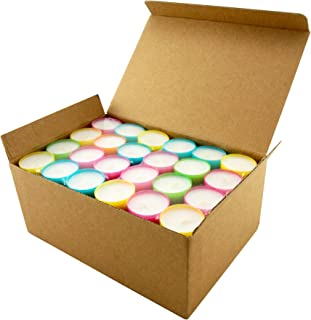 Stonebriar Multicolor Tea Light Candles, 6 to 7 Hr Extended Burn Time, 96 Pack,