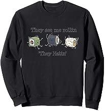 Kawaii Sushi They See Me Rollin' Funny Japanese Sweatshirt