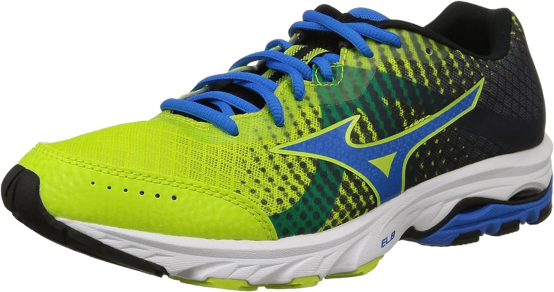 Mizuno shoes Running Sneaker Men Wave Elevation Lime bluee Black