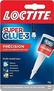 Loctite Super Glue-3 Précision, colle forte pour réparations précises, colle liquide tous matériaux, colle transparente à ...