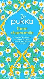 Pukka Three Chamomile Organic Herbal Tea, 30g (Pack of 20)