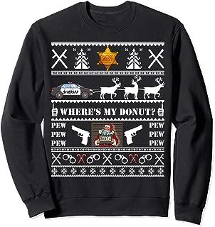 Sheriff Police Cop Ugly Christmas Xmas Sweatshirt Gift