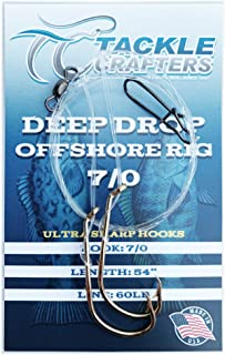 TACKLE CRAFTERS Deep Drop Hi Low Saltwater Fishing Rig 12 Pack