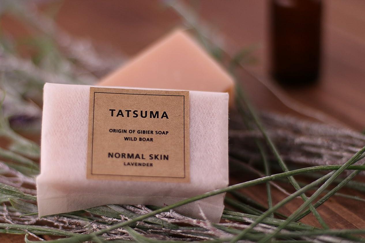民間人返還封建たつま石鹸21(化粧石鹸) 非加熱製法 | TATSUMA NORMAL SKIN LAVENDER