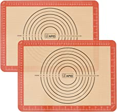 Sapid Heat- Resistance Silicone Baking Mats with Measurements, Non-Stick Thick Pizza Silicon Baking Tray Liners Mat for Co...