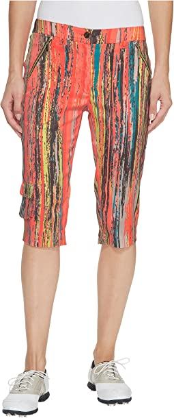 Jamie Sadock - Skinnyliscious Parfait Print Fly Front 24.5 in. Knee Capris