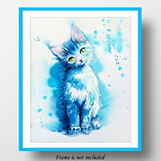 Meow. You don't know yet, but I'm your cat. 7Dots Art. Watercolor art print 8