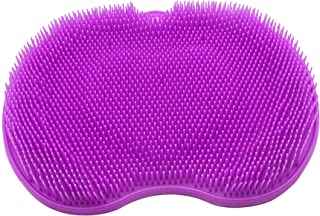 CERRXIAN Silicone Foot Bursh Scrubber Massager Shower Foot Brush Deep Clean Exfoliate Spa Increases Circulation (Purple, Normal)