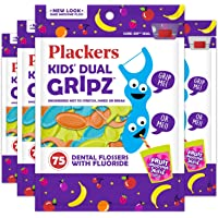 75-Count Plackers Kids Dental Floss Picks (Pack of 4)