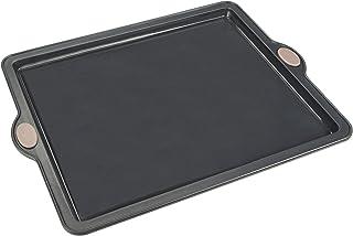 LEVIVO Molde de Horno de Silicona para Tartas Planas, Bases de Pizza y Pasteles, Gris, 25.5 cm