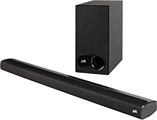 Polk Audio SIGNA S2 Ultra-Slim Universal TV Sound Bar with Wireless Subwoofer, Bluetooth Enabled Music Streaming, Black