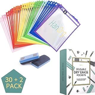Heavy Duty Dry Erase Pockets - 10
