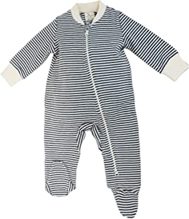 Organic Zip Front Sleep 'N Play, Unisex Baby Footed Pajamas, Cotton
