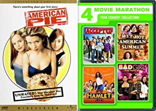 Hot Girls Marathon Summer Teen Comedies - American Pie, Hamlet 2 / Accepted / Wet American Camp / Bad Girls from Valley High 5-Comedy DVD Wild Party Bundle