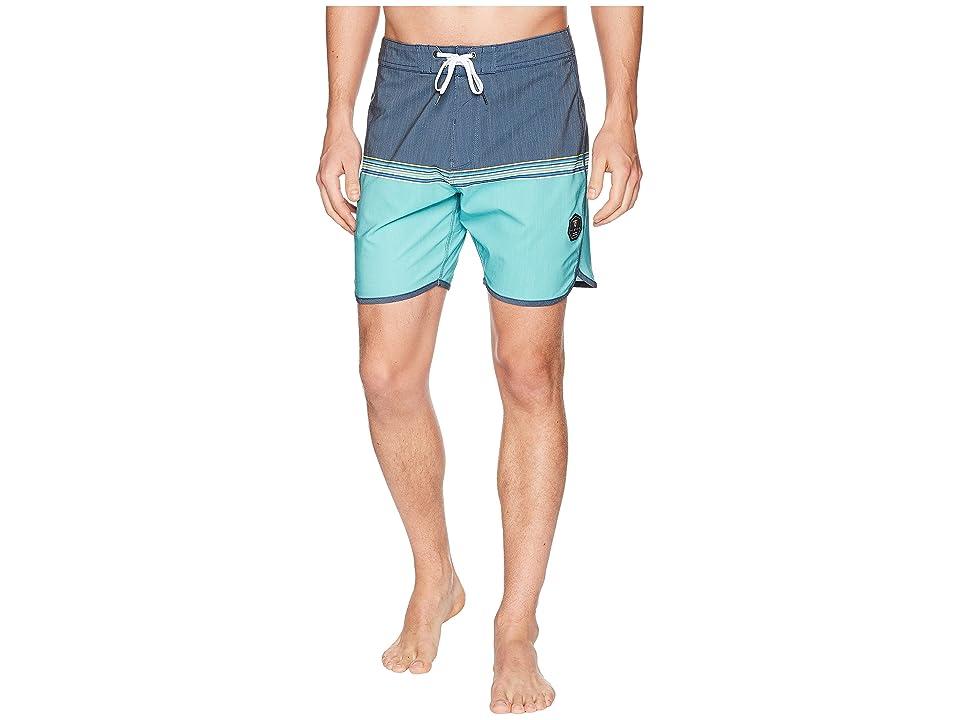 VISSLA Dredges Short Four-Way Stretch Boardshorts (Deep Navy) Men