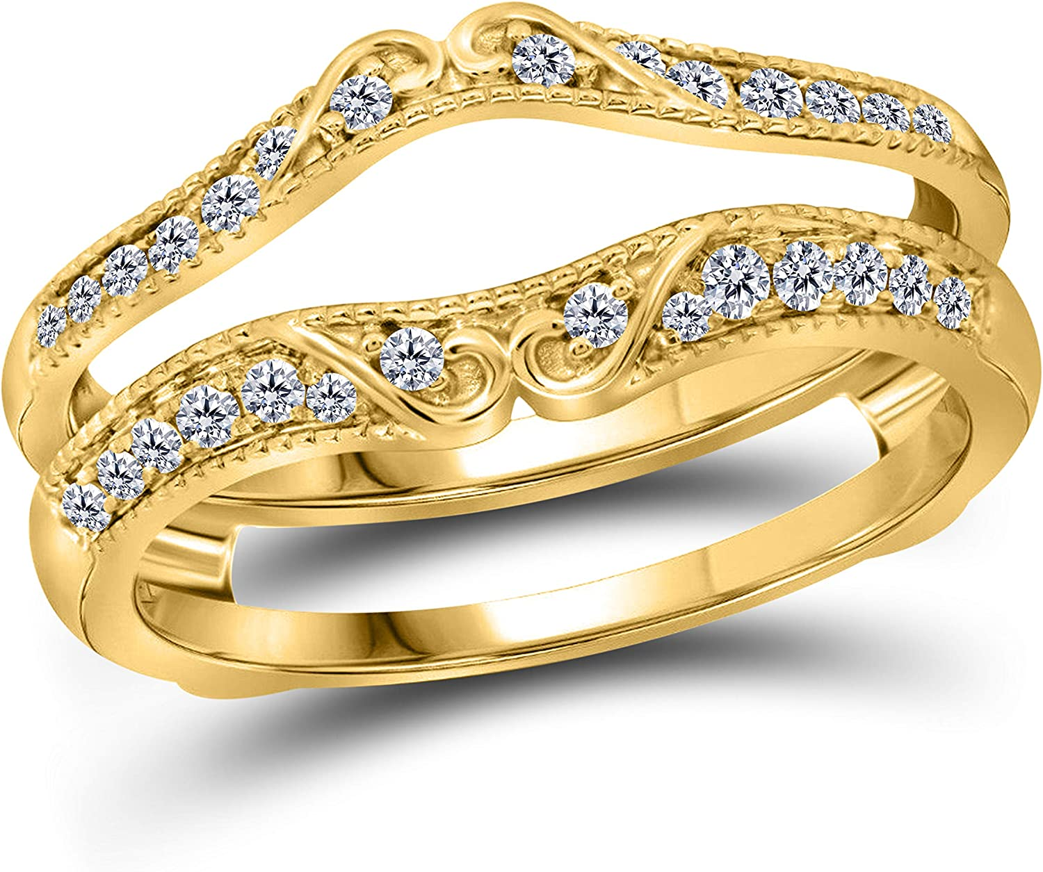 Max 72% OFF 14k White Or Yellow Ranking TOP5 Rose Gold Over Tw Sterling 1 4 Ct Silver Cub