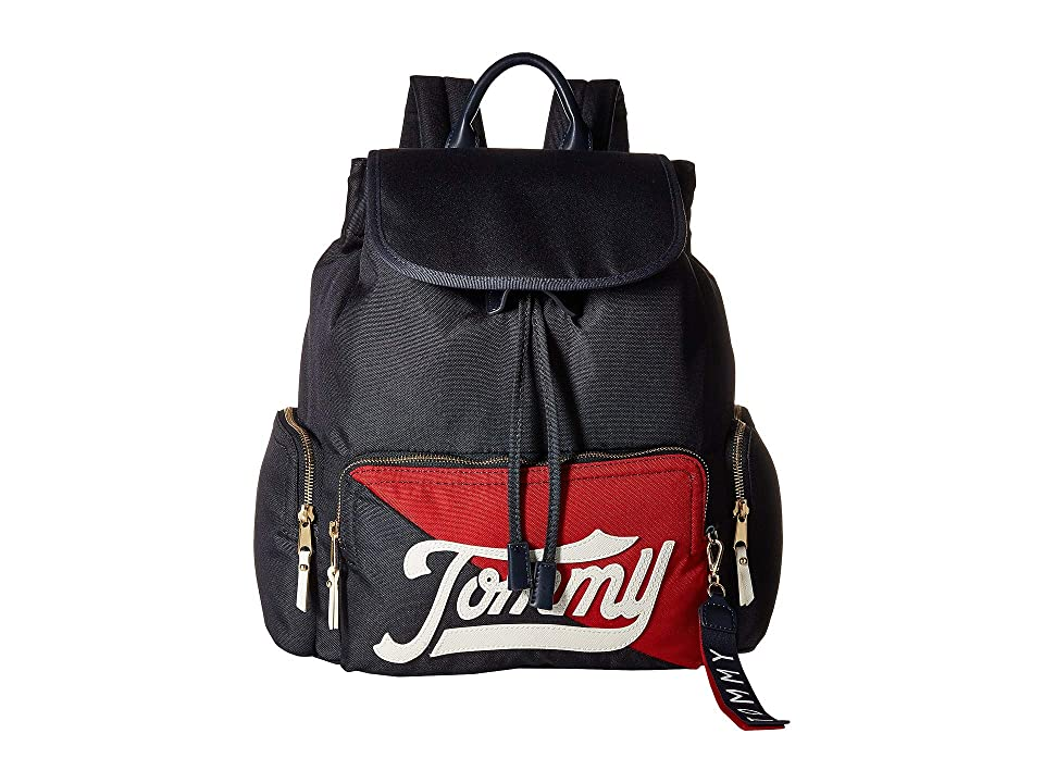 Tommy Hilfiger Daly Flap Backpack (Navy/Multi) Backpack Bags