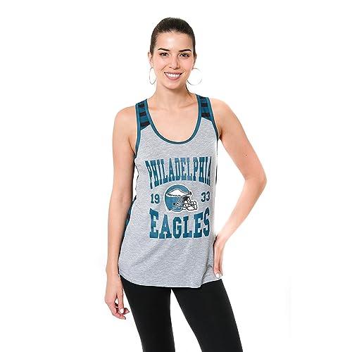 NFL Philadelphia Eagles Ultra Game Womens MESH RACERBACK TANK Large Team Color