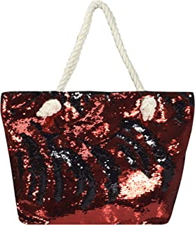 Peach Couture Large Dazzling Sequin Handbag Fashion Glitter Shoulder Shopping Travel Bag