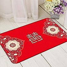 Rug Mat Bath Mats Carpet Doormats,Chinese Style Wedding Carpet, Field Non Slip Absorbent Soft Comfortable Nursery Rugs for...