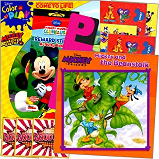 Disney Mickey Mouse Book Set with Stickers Bundle Includes Separately Licensed GWW Reward Stickers and Bookmark for Kids