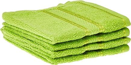 Panache Exports Mystical 4 Piece Face Towel Set, Green, 30 x 30 cm, PEMYSFAC01, Set of 4