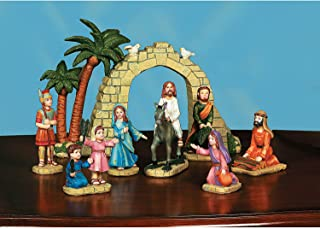 Fun Express - Palm Sunday Set(8pc) for Easter - Home Decor - Figurines - Molded - Easter - 8 Pieces
