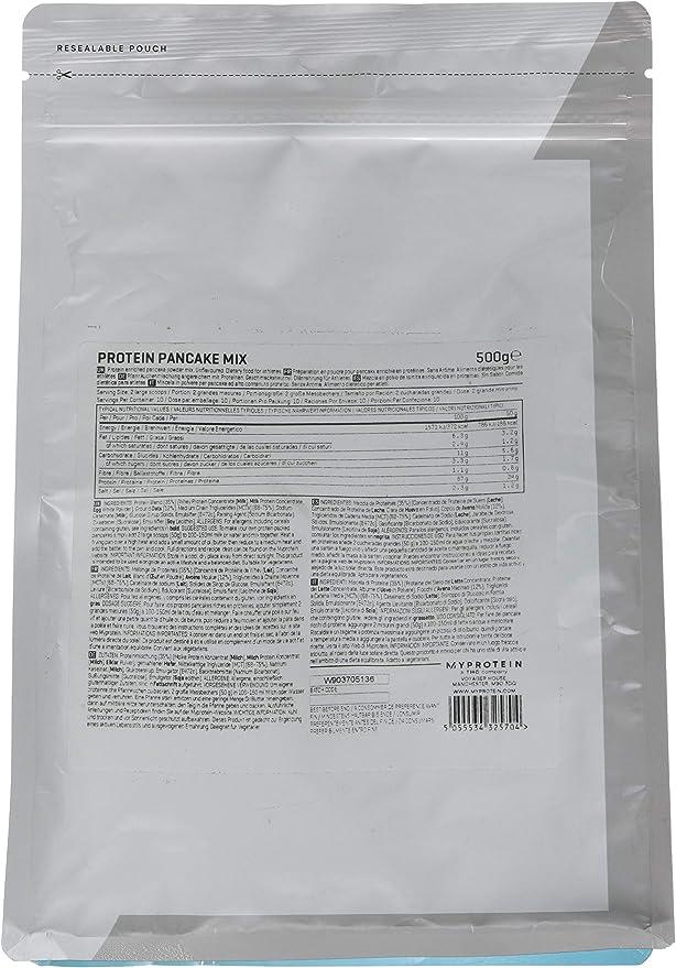 MyProtein Pancake Mix Tortitas de Proteínas, Sabor Sirope Dorado - 500 gr
