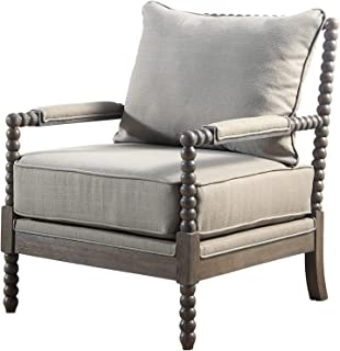 Best Master Furniture West Palm Accent Chair, Taupe