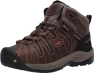 Men's Flint II Mid Soft Toe Non Slip Work Shoe Construction, Cascade Brown/Burnt Ocher