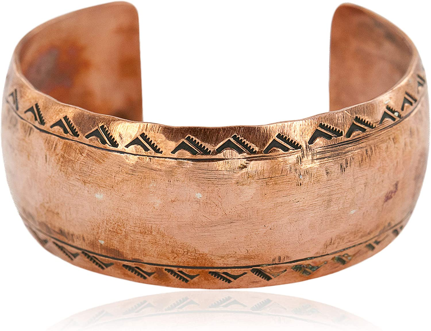 $150Tag Hammered Mountain Certified Navajo Copper Native American Bracelet 12868-5 Made by Loma Siiva